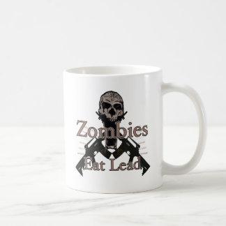 Los zombis comen la ventaja taza de café