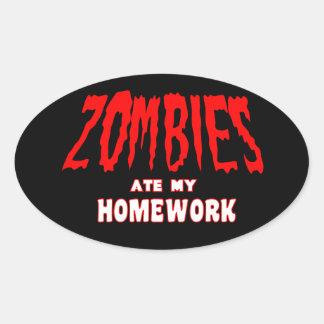 Los zombis comieron a mi pegatina de la