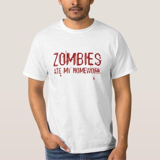 Los zombis comieron mi camiseta de la preparación remera