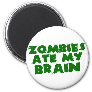Los zombis comieron mi cerebro imán redondo 5 cm
