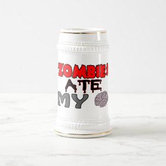 Los zombis comieron mi cerebro jarra de cerveza