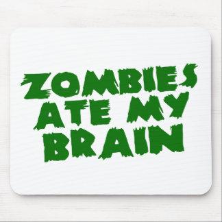 Los zombis comieron mi cerebro alfombrillas de raton