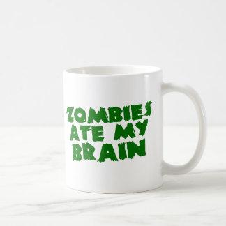 Los zombis comieron mi cerebro taza de café