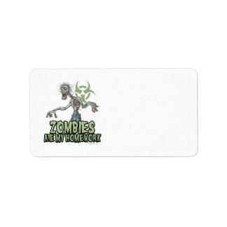 Los zombis comieron mi preparación etiquetas de dirección