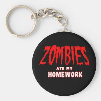 Los zombis comieron mi preparación llavero redondo tipo pin