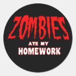 Los zombis comieron mi preparación etiquetas redondas