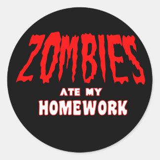 Los zombis comieron mi preparación pegatina redonda