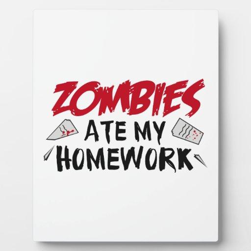 Los zombis comieron mi preparación placas con fotos