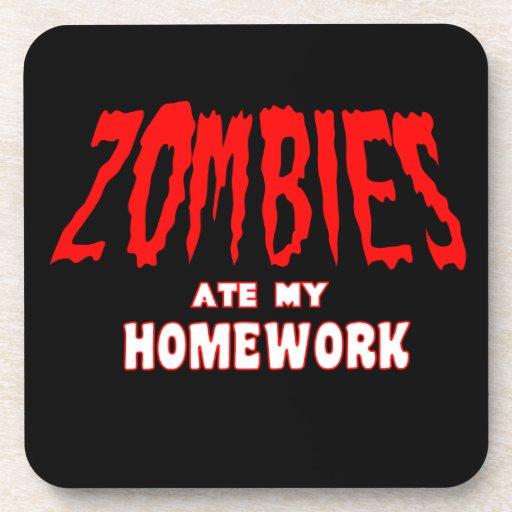 Los zombis comieron mi preparación posavasos de bebidas