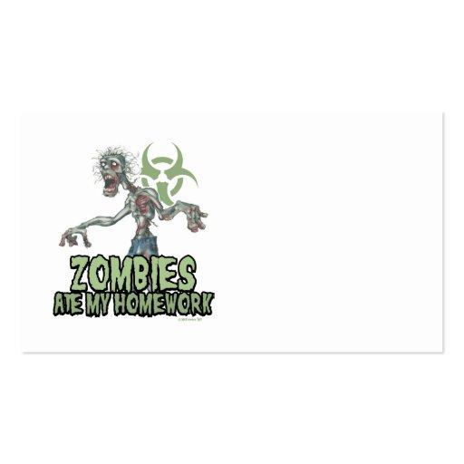 Los zombis comieron mi preparación tarjetas de visita