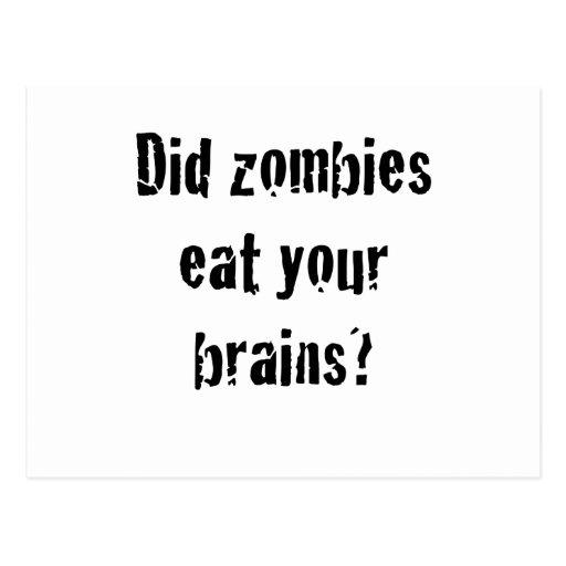 ¿Los zombis comieron sus cerebros? Postales