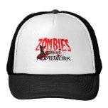 Los zombis del gorra del zombi comieron mi prepara