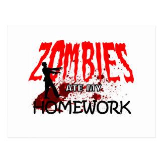 Los zombis del regalo del zombi comieron mi tarjetas postales