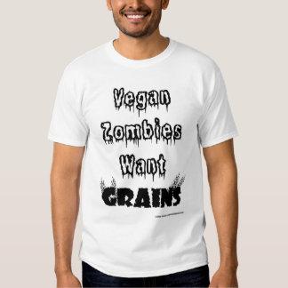 Los zombis del vegano quieren granos playeras