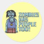 Los zombis eran gente también etiquetas redondas