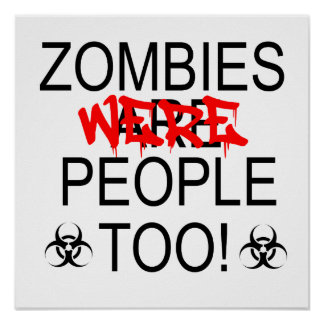 Los zombis eran gente también posters