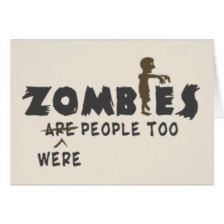 Los zombis eran gente también tarjeta pequeña