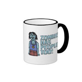 Los zombis eran gente también taza de café