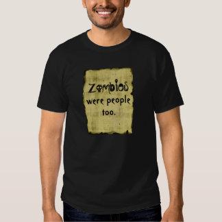 Los zombis eran skuls de la gente también - playeras