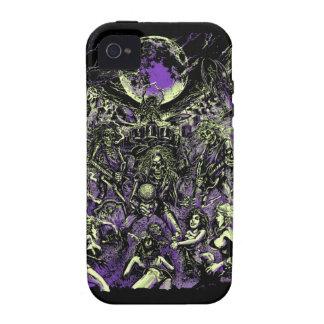 Los zombis esqueléticos muertos de Rockin Vibe iPhone 4 Carcasa