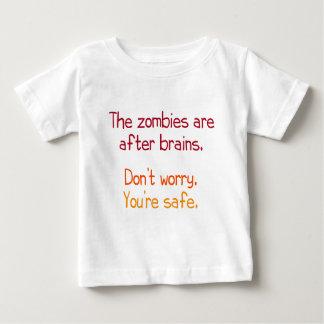 Los zombis están después de cerebros polera