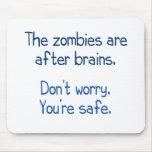 Los zombis están después de cerebros tapetes de ratones