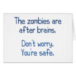 Los zombis están después de cerebros tarjetas