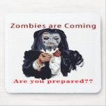 Los zombis están viniendo tapetes de ratón