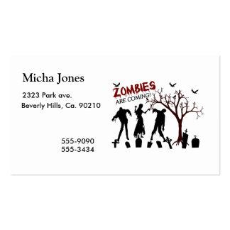 Los zombis están viniendo plantilla de tarjeta de negocio