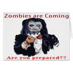 Los zombis están viniendo tarjetas