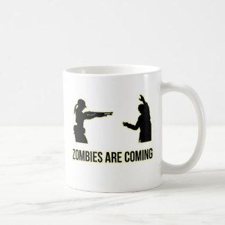 Los zombis están viniendo tazas