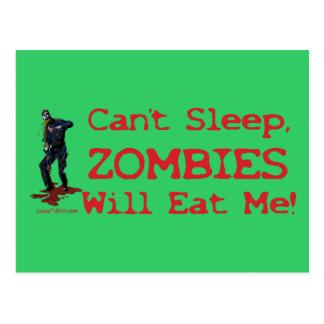 Los zombis me comerán postal