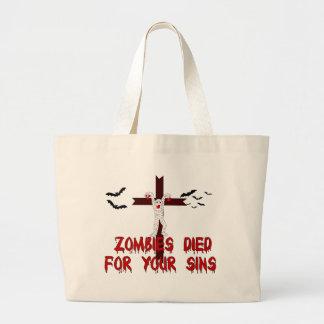 Los zombis murieron por sus pecados bolsa de mano