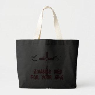 Los zombis murieron por sus pecados bolsas de mano