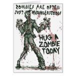 Los zombis necesitan abrazos también felicitacion