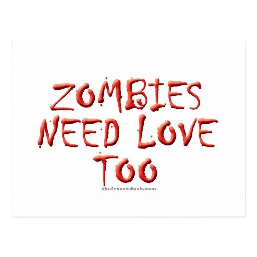 Los zombis necesitan amor también tarjetas postales