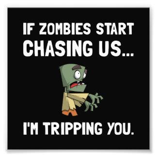 Los zombis nos persiguen que disparan fotografía