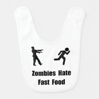 Los zombis odian los alimentos de preparación baberos de bebé