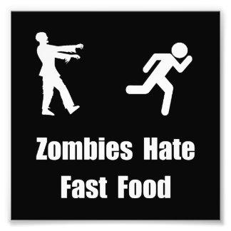 Los zombis odian los alimentos de preparación cojinete