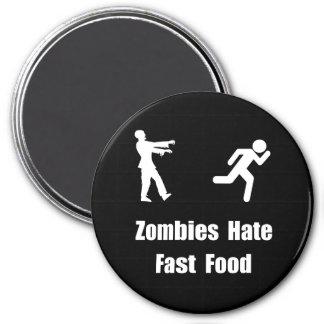 Los zombis odian los alimentos de preparación imán redondo 7 cm