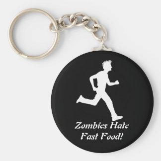 ¡Los zombis odian los alimentos de preparación Llavero Redondo Tipo Chapa