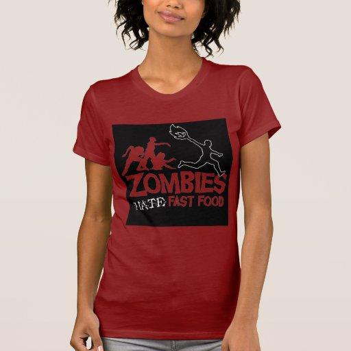 Los zombis odian los alimentos de preparación camisetas