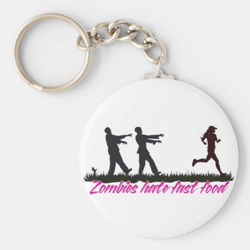 Los zombis odian los alimentos de preparación rápi llavero redondo tipo pin