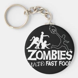 Los zombis odian los alimentos de preparación rápi llavero personalizado