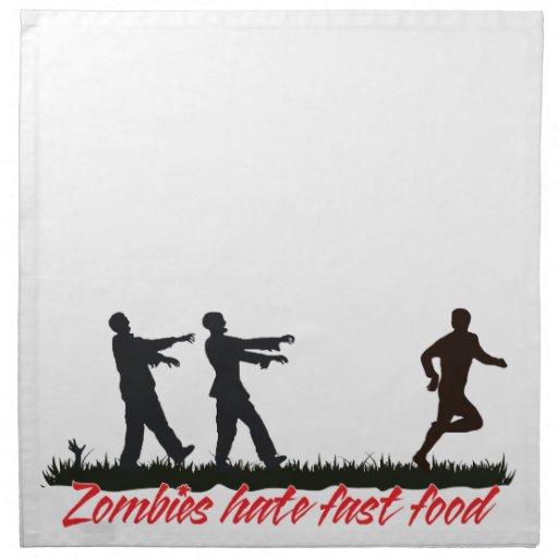Los zombis odian los alimentos de preparación rápi servilleta imprimida