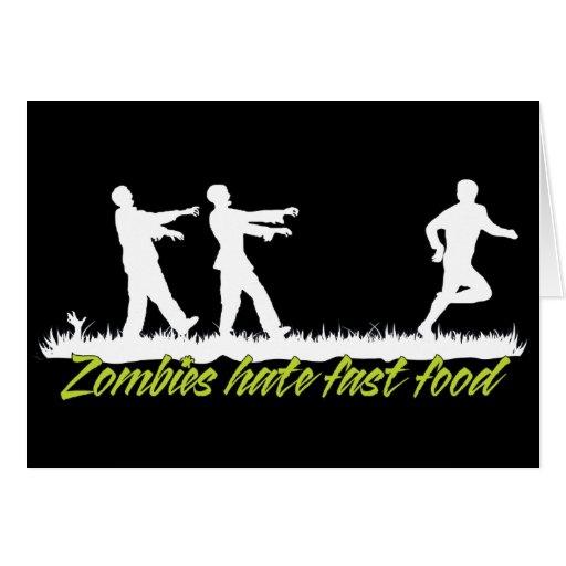 Los zombis odian los alimentos de preparación rápi felicitación