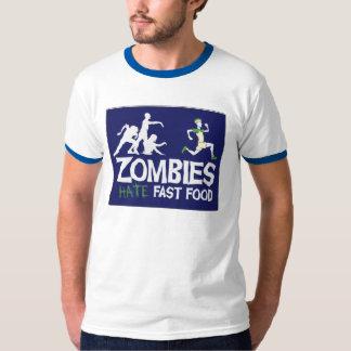 Los zombis odian los alimentos de preparación remera