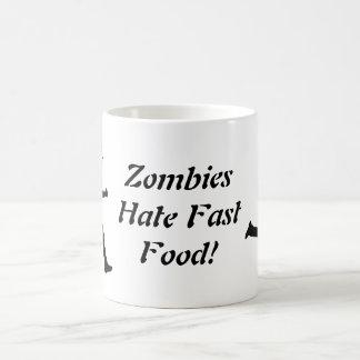 ¡Los zombis odian los alimentos de preparación Taza Básica Blanca