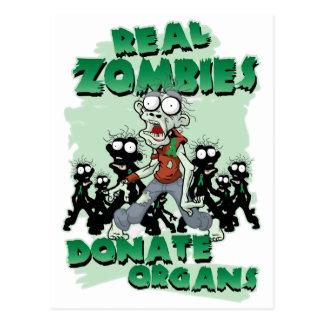 Los zombis reales donan órganos postal
