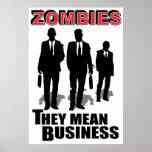 Los zombis significan negocio impresiones